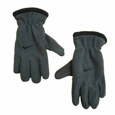 New Nike Youth Boys 8/20 Fleece Winter Gloves Anthracite Embroidered Swoosh Logo