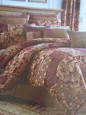 new croscill ryland red gold 4 piece queen comforter set