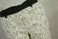 Cropped Zara Trousers Size M Cream Black Patterned Trousers