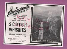 LEITH, Anzeige 1913, Robertson, Sanderson & Co. Ltd. Scotch Whiskies