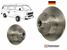 VW T3 TRANSPORTER VANAGON FRONT DISC ROTOR PAIR GERMAN 251407617 ZIMMERMANN