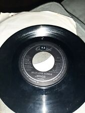 45 Record Wings Silly Love Songs/Cook of the House VG