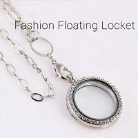 Fashion Floating Charm Living Memory Glass Round Locket Charms Pendant