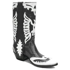 Rancho Loco Black & White Double Eagle Classic Cowboy Boots Men's Size 11D