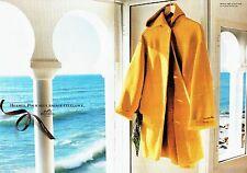 Publicité Advertising 087  1996  Hermès (2p)  carré plisse twill de soie