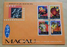 1996 Macau Traditional Chinese Toys 4v Stamp FDC 澳门中国传统玩具邮票首日封