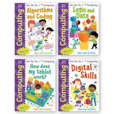 KS1 AGE 5-7 Years ICT Computing Activity 4 Books Set Wipe Clean Activity Books