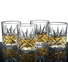 Crystal Glasses Vintage Set of 4 Old Fashioned Whiskey Drinking Irish Cut Glass