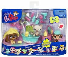 Littlest Pet Shop Themed Playpack - SQUEAKY CLEAN PETS NEW SEALED