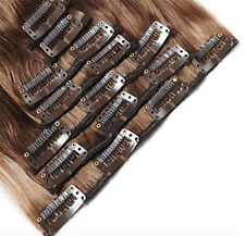 "Luxury Clip in Remy Human Hair Extensions Full Head 16""-24"" Blonde Brown RD323"