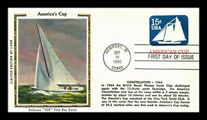 AMERICA'S CUP YACHT RACE POSTAL STATIONERY FDC COLORANO SILK CACHET US COVER