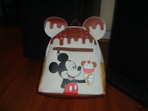 LOUNGEFLY DISNEY MICKEY MOUSE ICE CREAM MINI BACKPACK~ WITH TAGS~BRAND NEW~