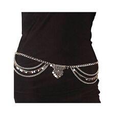 Dangle Coin Belly Waist Chain Belt Gypsy Bohemian Dancing Tassel Body Jewel D6X2