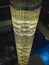 Chandelier Custom Bespoke Large Crystal Glass Ceiling Light Tube Staircase 3.6m