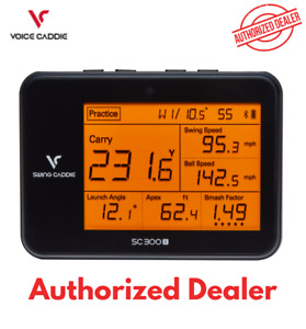 New 2021 Swing Caddie SC300i Golf Portable Launch Monitor - Black (Voice Caddie)