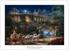 Thomas Kinkade Clock Strikes Midnight 12 x 18 Limited Edition S/N Paper