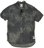 Quiksilver Shirt Medium Mens Dress Shirt Button Up Formal Designer RETRO Top M