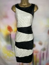 BNWT ALEXON IVORY/BLACK BOTANICAL BLOCK ELEGANT DRESS SIZE 16