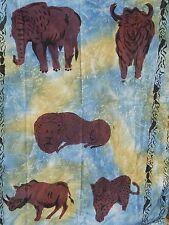 Batik Zimbabwe Hanging Art African Fabric 100% COTTON 39'' x  57'' AFRICA