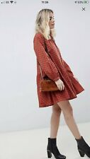 Asos  Tiered  Trapeze Mini Dress In Broderie- £38