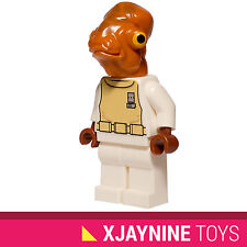 GENUINE LEGO STAR WARS Admiral Ackbar Minifig Return of the Jedi NEW RARE 7754