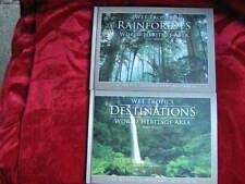 Wet tropics DESTINATIONS + RAINFORESTS World Heritage Area x 2 Books Mike Provic