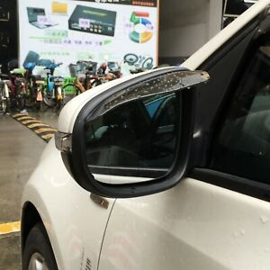 2pcs/Set Brown Side Mirror Sun Visor Rain Water Proof Rubber Guard Accessories
