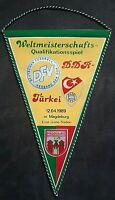 Orig. Wimpel DDR Türkei Magdeburg WM Quali 1989 GDR Turkey pennant FCM 1.FC