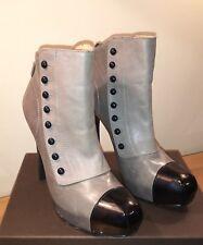 💫 LAMB Gwen Stefani Dark & Light Grey Leather Boots Size 40