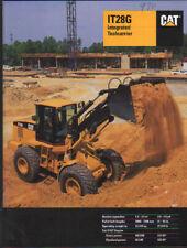 "Caterpillar ""IT28G"" Integrated Toolcarrier Brochure Leaflet"