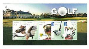 MAD142) Australia 2011 Golf Minisheet CTO/Used