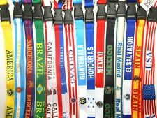 Soccer Lanyard With Clasp Key Chain ID Holder Strap