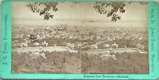 Panorama de Montreal Canada Photo J. G. Parks Stereo Vintage Albumine