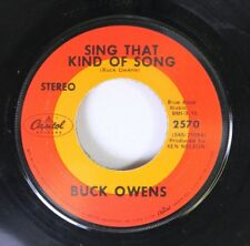 Country 45 Buck Owens - Sing That Kind Of Song / Tall Dark Stranger On Capitol