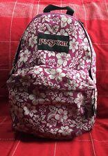 Girls Jansport Purple & White Hawaiian Flowers Backpack