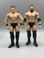 Damien Mizdow Sandow & Miz Basic Series WWE Mattel Wrestling Figure Lot