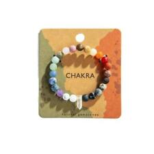 Quartz Crystal Point Seven Chakra Stretch Bracelet