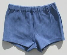 Authentique Short enfant vintage - Maillot de bain - Créatex - Taille 10ans Bleu