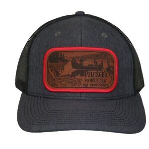 Pflueger Heddon Creek Chub Lure Fishing Hat Cap Men's Trucker Snap Back Handmade