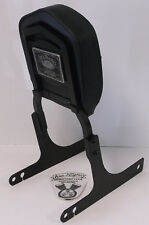 Harley Davidson '96 - '01 Dyna Flat Black Sideplates Sissy Bar Backrest Pad EUC