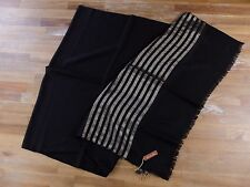 LORO PIANA scarf cashmere black lightweight Italy ladies authentic NWT