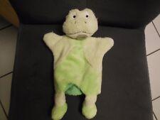 179/ doudou marionnette grenouille verte Nature microfibre BABY NAT'