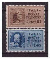 LUOGOTENENZA  1945 -   POSTA PNEUMATICA  SERIE   NUOVA **  Dante e Galilei