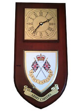 Army Careers Military Shield Wall Plaque Clock