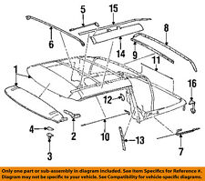 MERCEDES OEM 95-02 SL500 Convertible/soft Top-Rear Bow Clamp 1297743733