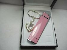 New Colibri Firebird Chic Pink SST Lighter & Key Ring Gift Set