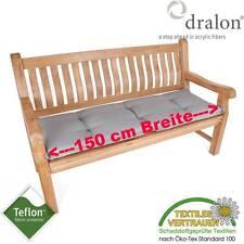 dralon® Teflon™ AUFLAGE FÜR GARTENBANK BANKPOLSTER 3-SITZER 150 x 50 CM HELLGRAU