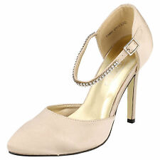Spot On F9602 Ladies Ivory Court Shoes UK Sizes 4 - 8 (R8A)