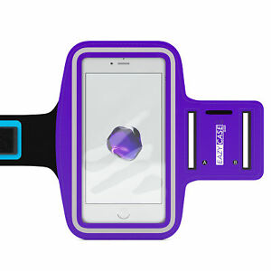 Universal Sports Armband Phone Bag Jogging Fitness Band Smartphone Purple