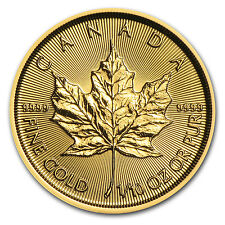 2016 Canada 1/10 oz Gold Maple Leaf BU - SKU #93750